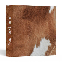 Cow Fur Binder