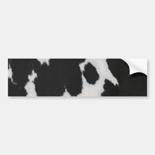Cow fur bumper sticker