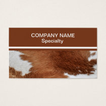Cow Fur Business Card