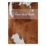 Cow Fur Card