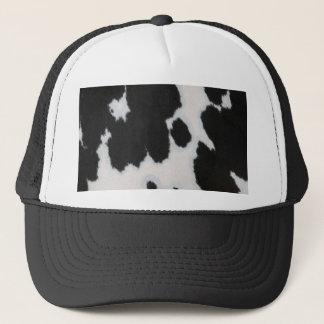 Cow fur trucker hat