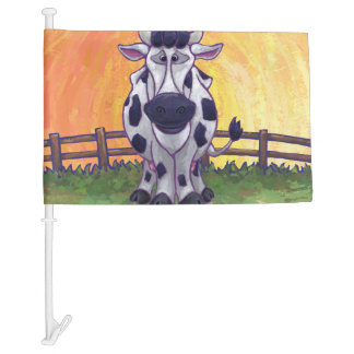 Cow Gifts & Accessories Car Flag