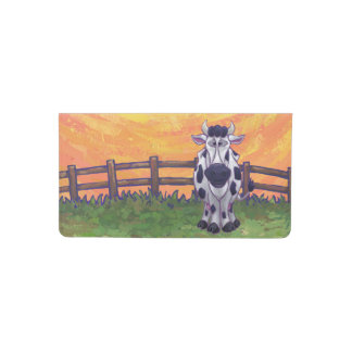 Cow Gifts & Accessories Checkbook Cover