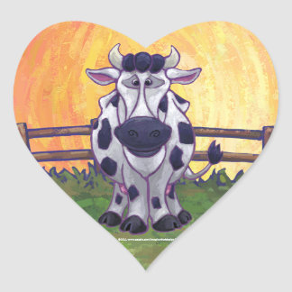 Cow Gifts & Accessories Heart Sticker