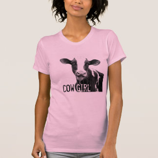 Cow Girl Cowgirl!  Holstein Dairy Calf T Shirts