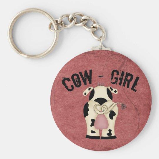 Cow-Girl Keychain