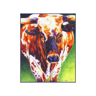 Cow Girl - Longhorn Heifer Canvas Print