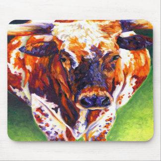 Cow Girl - Longhorn Heifer Mousepad