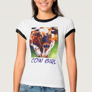 Cow Girl - Longhorn heifer T-Shirt