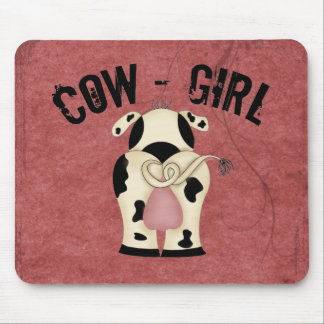 Cow-Girl Mouse Pad