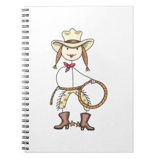 Cow Girl Spiral Note Book