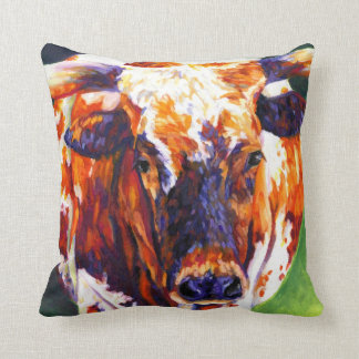 Cow Girl Pillow - Longhorn Heifer