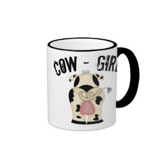 Cow-Girl Ringer Mug