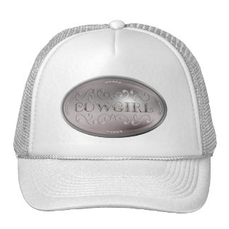 Cow Girl Silver Concho Trucker Hat