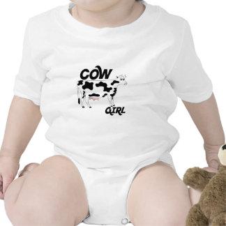 Cow Girl Baby Creeper