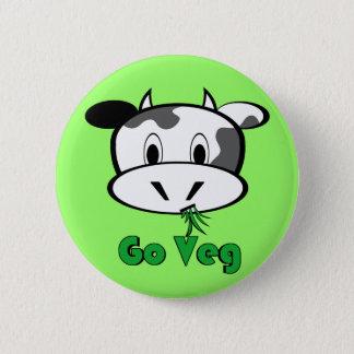 Cow Go Veg Pinback Button