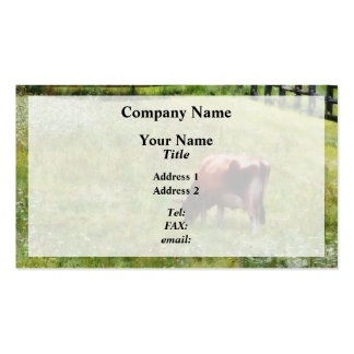 Cow Grazing in Pasture Business Card