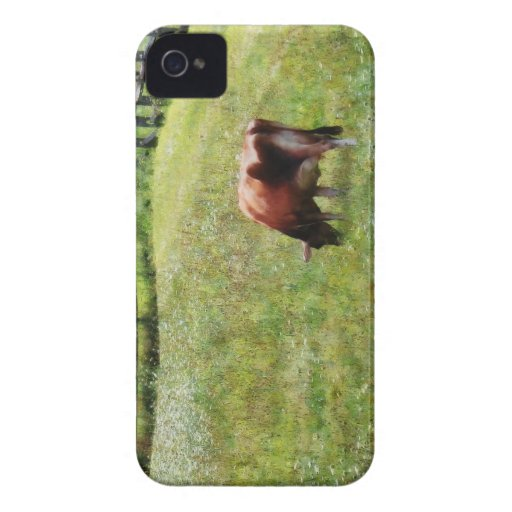 Cow Grazing in Pasture Blackberry Bold Cases
