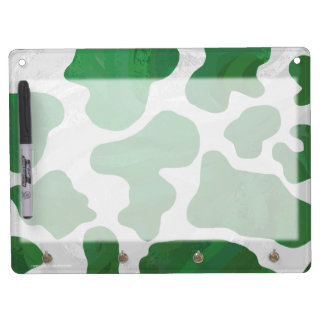 Cow Green and White Print Dry Erase Boards