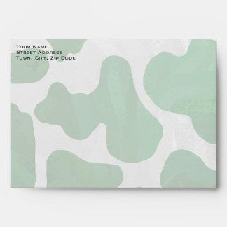 Cow Green and White Print Envelopes
