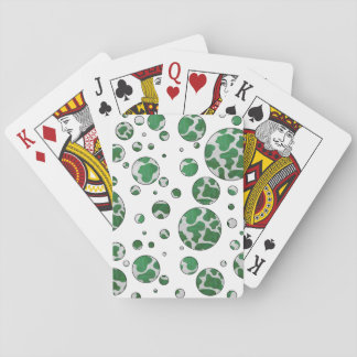 Cow Green and White Print Deck Of Cards