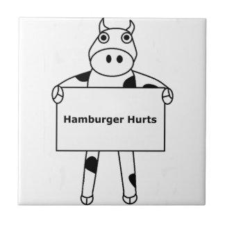 Cow:  Hamburger Hurts Tiles