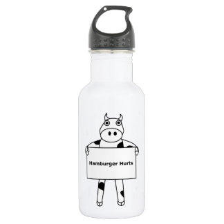 Cow:  Hamburger Hurts Water Bottle