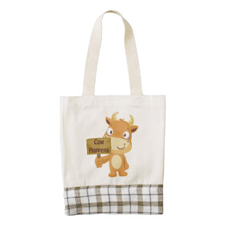 Cow Happens Zazzle HEART Tote Bag