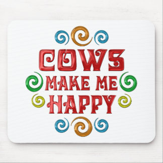 Cow Happiness Mouse Pads