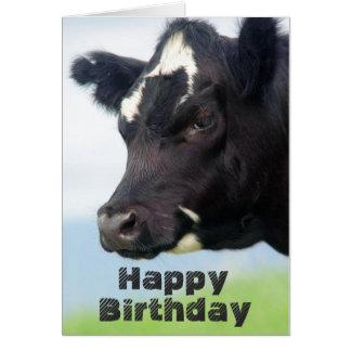 Cow Happy Birthday card