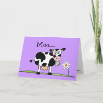 Cow-Happy Mudders Days Card