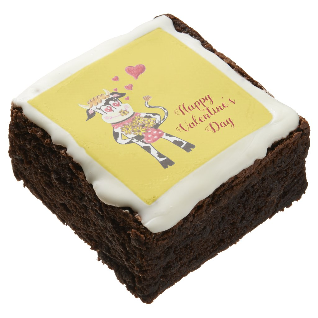 Cow-Happy Valentine's Day brownies