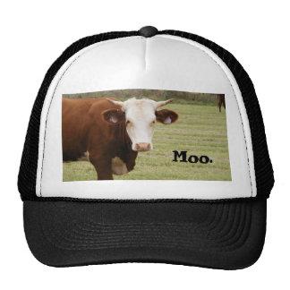 """Cow hat: """"Moo."""" Trucker Hat"""
