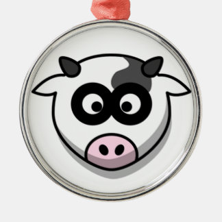 Cow Head Christmas Tree Ornament