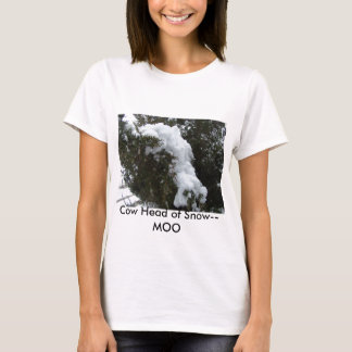 Cow Head of Snow--MOO T-Shirt