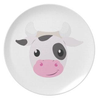 Cow Head Dinner Plate