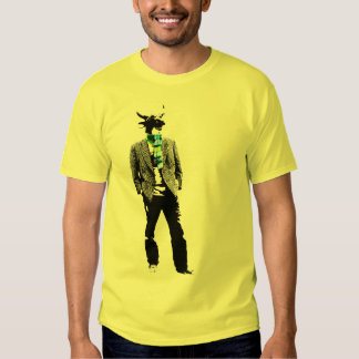 Cow headed man retro T-shirt