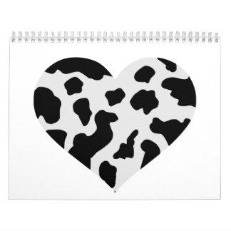 Cow heart calendar