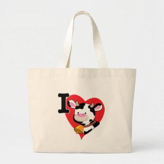 Cow Heart Canvas Bag