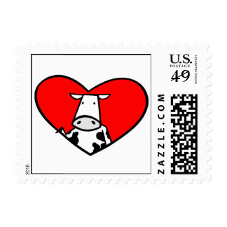 Cow Heart postage stamp