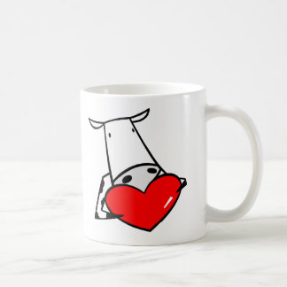 Cow Heart Valentine I Love Cows Coffee Mug