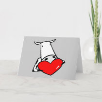 Cow Heart Valentine I Love Cows Holiday Card