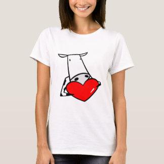 Cow Heart Valentine I Love Cows T-Shirt
