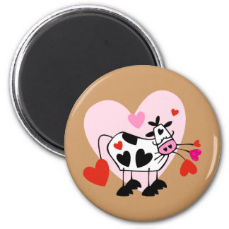 Cow Hearts 2 Inch Round Magnet