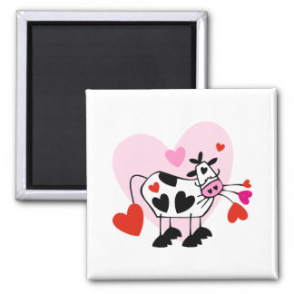 Cow Hearts 2 Inch Square Magnet