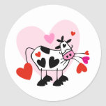 Cow Hearts Classic Round Sticker