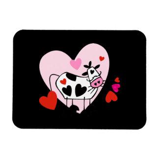 Cow Hearts Rectangular Photo Magnet