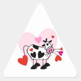 Cow Hearts Triangle Sticker