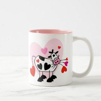 Cow Hearts Two-Tone Coffee Mug