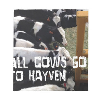 Cow Heaven Notepad
